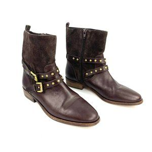 COACH Lilliana Brown Suede Leather ankle booties 6